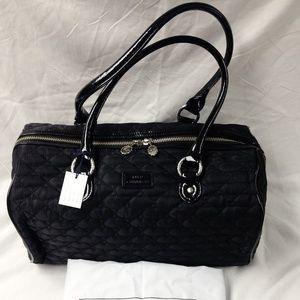 Lulu Guinness - Black Quilted Lips Medium Zoe Bag
